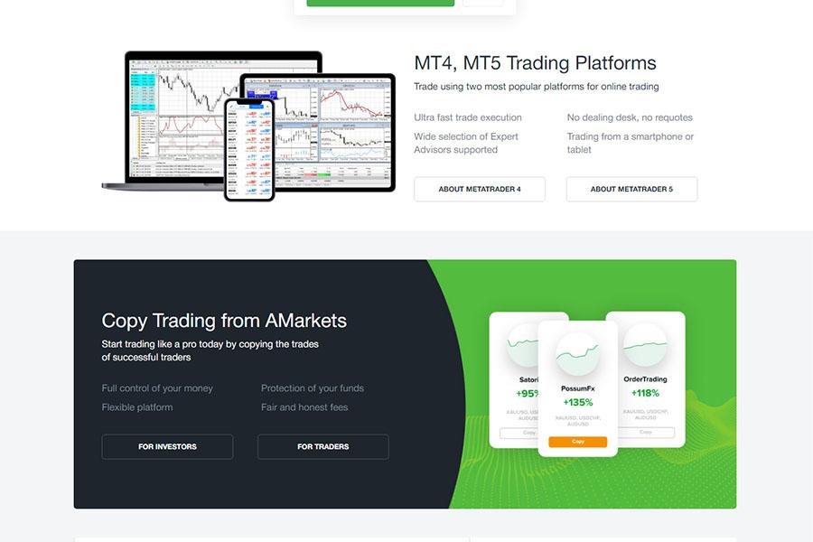 AMarkets Trading Platform